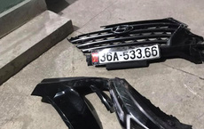 Nạn nhân bị bỏ mặc tại hiện trường vụ tai nạn ở Thanh Hóa, một biển xe ô tô rớt lại