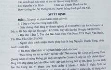 Bị phạt 25 triệu đồng vì đưa tin sai sự thật về Thứ trưởng Bộ Công an Lương Tam Quang