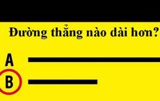 Thông tin rất bất ngờ từ câu hỏi: A và B, đoạn thẳng nào dài hơn?