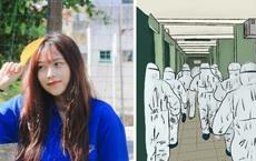 Bộ tranh gây xúc động mạnh của nữ sinh Đà Nẵng: Bất chấp virus là kẻ thù mạnh, y bác sĩ luôn là những anh hùng áo trắng
