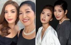 Mẹ ruột Minh Tú hơn 60 tuổi vẫn trẻ đẹp