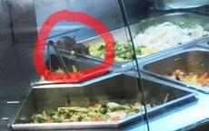 """Kinh hãi những chú chuột """"vô tư gặm nhấm"""" đồ ăn trong quầy bán thức ăn sẵn của trung tâm thương mại ở Sài Gòn"""