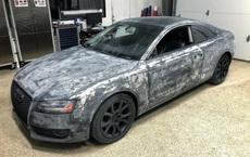 """Màn """"lột xác"""" ngoạn mục của chiếc Audi A5 có ngoại thất bị phá hủy hoàn toàn"""