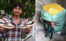 Thanh niên An Giang làm nổ ra tranh cãi khi khoe lấy tiền 2 năm bốc vác để sắm giày hiệu