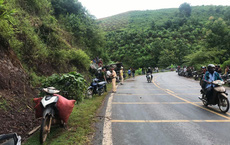 Xe tải lao vào ta luy khiến 2 người bị thương, chết 7 con trâu