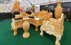 """Choáng ngợp bộ bàn ghế ngọc Hoàng Long """"bán rẻ"""", giá gần tỷ đồng ở Hà Nội"""