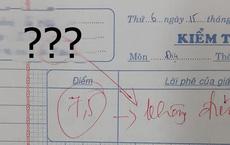 Giáo viên trừ thẳng tay từ 7,5 xuống 0 điểm, đọc lý do mà chỉ biết ngậm ngùi: Không chịu cũng phải chịu thôi!