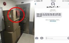 Shipper nhắn tin báo cho chủ đồ để ngoài cửa, khi thấy hình ảnh xác thực ai nấy đều bật cười