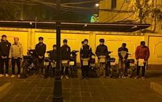 """Cảnh sát """"đón lõng"""" chặn bắt nhóm thanh thiếu niên phóng xe gây náo loạn thị xã Sơn Tây"""