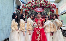 """Lác mắt trước """"hội nhà gái theo hệ sneaker"""", toàn Air Jordan xịn sò trong đám cưới của cô dâu gốc Hoa"""