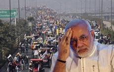 """Nông dân lái 10.000 máy kéo tới xé nát """"trái tim"""" Ấn Độ, gửi ông Modi thông điệp """"lạnh gáy"""""""