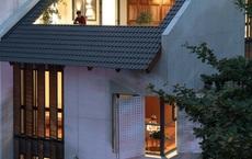 Nhà ''khoét mái'' 2 mặt tiền ở Hà Nội: Nhìn từ trên xuống đã trầm trồ, bước vào trong lại phải wow thêm tiếng nữa