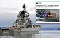 Sự cố bi hài: Quốc kỳ Mỹ tung bay bên chiến hạm Nga để chúc mừng sinh nhật Hải quân Mỹ!