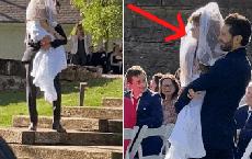 Khoảnh khắc chú rể bế chị gái sinh đôi của cô dâu vào lễ đường lập tức viral khắp MXH và sự thật gây xúc động đằng sau