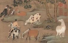 """Phóng to 10 lần bức tranh đàn ngựa, hậu thế ngỡ ngàng: Chính giữa tranh có cảnh """"khó nói""""!"""