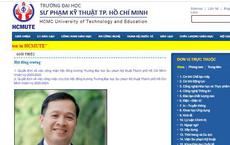 Chủ tịch Hội đồng Trường ĐH Sư phạm Kỹ thuật TPHCM từ chức