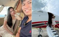Vợ triệu phú Vương Phạm mới tung 1 con ảnh lên phây, dân mạng đã phi vào hỏi: Anh chị mới mua máy bay riêng hả?
