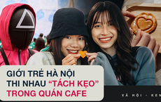 Bắt trend Squid Game, quán cà phê Hà Nội bán hơn 3.000 kẹo đường, giới trẻ kéo đến ùn ùn
