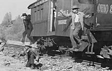 Vụ cướp xe lửa đầu tiên trong lịch sử đường sắt Mỹ