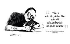 Ernest Miller Hemingway và những kiệt tác văn chương viết tại quán cà phê