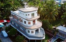 Một nông dân làm nghề nuôi lươn ở Vĩnh Long bỏ 5 tỷ xây căn nhà có hình dáng lạ