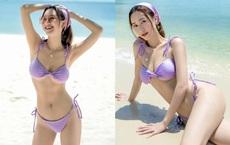 Á hậu Hà Thu diện bikini khoe sắc vóc tuổi 29