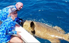 """Cô gái bắt được """"quái vật biển sâu"""" nặng 264 kg, vô tình phá kỷ lục thế giới"""
