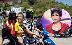 Hình ảnh danh hài Việt Hương đi du lịch cùng chồng con gây tranh cãi