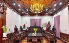 """Choáng ngợp biệt thự rộng cả nghìn m2, """"phủ"""" gỗ Lào từ đầu đến chân của đại gia Bắc Ninh"""