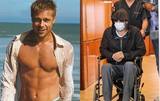"""Xôn xao hình ảnh """"nam thần Hollywood"""" Brad Pitt phải ngồi xe lăn, dáng vẻ tiều tụy, suy sụp"""