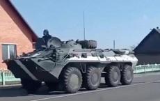 Xe bọc thép của Belarus ồ ạt đổ về biên giới Ukraine