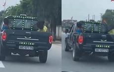 Vụ xe bán tải chở 3 cháu nhỏ sau thùng, chạy với tốc độ 90km/h: CSGT tỉnh Hà Tĩnh nói gì?