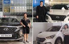 5 chủ xe Hyundai Santa Fe tại Hà Nội ẵm 5 biển ngũ quý, sang tay nhanh thu về đôi ba tỷ đồng mỗi chiếc