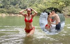Vẻ nóng bỏng sau khi sinh 3 con, chạm tuổi U40 của bà xã Hoàng Bách