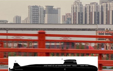Bức ảnh tiết lộ thứ có thể là một loại tàu ngầm mới của hải quân Trung Quốc