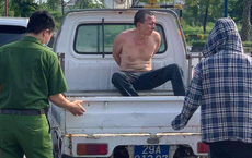 Hà Nội: Vừa rút dao đâm tài xế taxi trọng thương, tên cướp bị bắt tại trận
