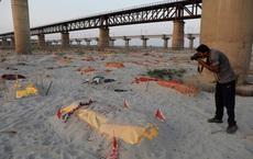 Ấn Độ: Mưa lớn quét sạch cát bề mặt, bờ sông Hằng lộ ra hàng loạt thi thể đang phân hủy