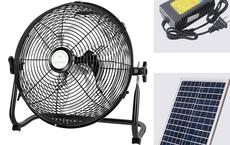 Quạt điện pin mặt trời gây sốt chỉ từ 300.000 đồng: Lời một, thiệt hai!