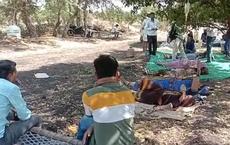 Nông thôn Ấn Độ: Bệnh nhân COVID-19 nằm dưới tán cây, chai dịch treo trên cành