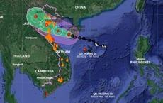Bão số 2 giật cấp 10 đã đổ bộ, từ Thanh Hóa đến Quảng Bình mưa rất to