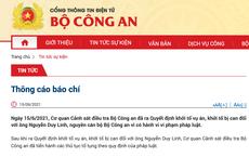 Ông Nguyễn Duy Linh - cựu cán bộ Bộ Công an bị khởi tố