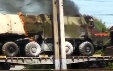 Lửa bao trùm, phá huỷ hoàn toàn hệ thống tên lửa Rubezh của Nga