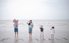 Chồng nghỉ việc ở nhà chăm con, vợ được đà sinh liền 5 năm 4 bé, dân mạng đều cùng đặt một câu hỏi