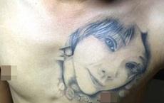 Xăm chân dung bạn gái lên ngực, hậu chia tay, chàng trai làm ra 1 việc khiến ai nhìn vào cũng... cạn lời