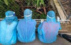 Ba thanh niên đi chống dịch ngồi xin rau của chủ nhà, bức ảnh từ phía sau được chia sẻ liên tục