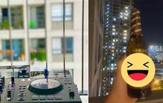 Event âm nhạc 'giải lao' mùa dịch tại chung cư Sài Gòn: DJ chơi nhạc ngay tại ban công, khán giả chill bằng flash điện thoại