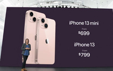 iPhone 13 và iPhone 13 mini chính thức: 'Tai thỏ' gọn hơn, camera có chống rung cảm biến, Apple A15, giá từ 699 USD