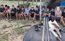 Ngăn chặn 22 thanh niên chuẩn bị nói chuyện bằng hung khí