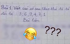 Cô giáo yêu cầu viết các số từ LỚN đến BÉ, đáp án cậu nhóc đưa ra khiến giáo viên 'cạn lời', khen ngợi 'thông minh' quá