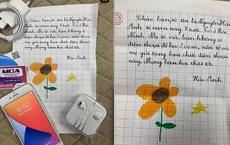 Bé gái 7 tuổi tặng bạn chiếc điện thoại Iphone 7 mới cứng để học online, xem bức thư lại càng thấm thía từng câu